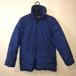 Eddie Bauer Goose Down Blue Puffer Jacket